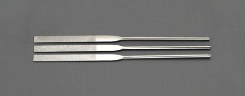エスコ(ESCO) 200mm ダイヤモンドヤスリ(精密・平/3粒度・3本組) EA826NC