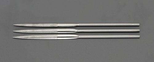 エスコ(ESCO) 200mm ダイヤモンドヤスリ(精密・半丸/3粒度・3本組) EA826ND