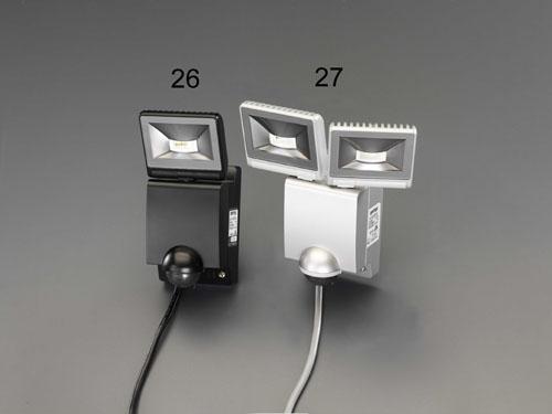 エスコ(ESCO) AC100V/22WLEDセンサーライト(2灯) EA864C-27
