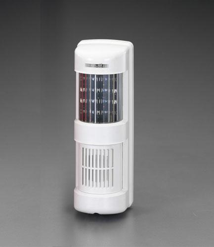 エスコ(ESCO) AC100VLED点滅灯(サイレン付/ホワイト) EA864EB-12