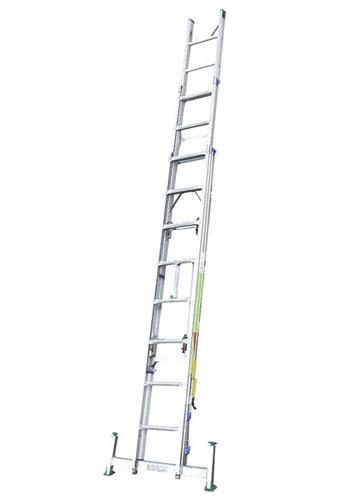 【直送】【代引不可】エスコ(ESCO) 3.01-7.09m 三連はしご(アルミ製・アウトリガー付) EA902NC-17