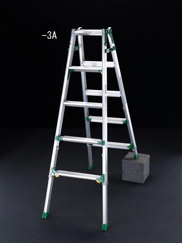 【直送】【代引不可】エスコ(ESCO) 1.71m はしご兼用脚立(ワイドステップ/伸縮脚) EA903-3A