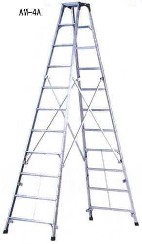 【直送】【代引不可】エスコ(ESCO) 3.77m 脚立(ワイドステップ/アルミ製) EA903AM-6A