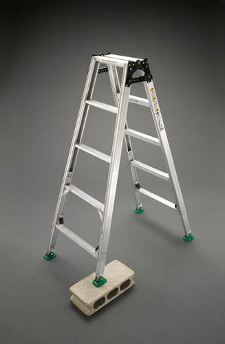 【直送】【代引不可】エスコ(ESCO) 1.28-1.73m はしご兼用脚立(調整脚) EA903F-120