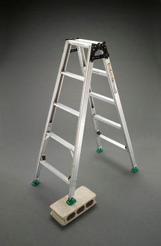 【直送】【代引不可】エスコ(ESCO) 1.88-2.33m はしご兼用脚立(調整脚) EA903F-180