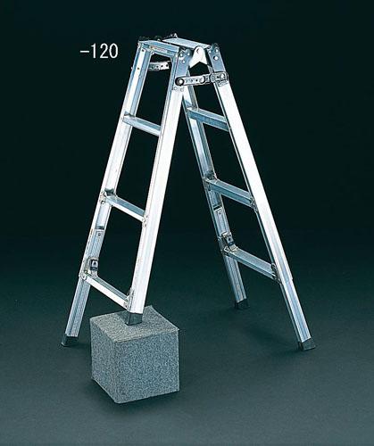 【直送】【代引不可】エスコ(ESCO) 1.83-2.13m はしご兼用脚立(調整脚) EA903FC-210