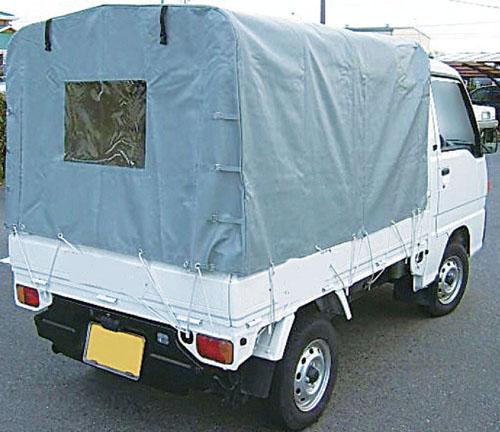 【直送】【代引不可】エスコ(ESCO) 1440x1900x1200mm 軽トラック用・幌 EA911-5A
