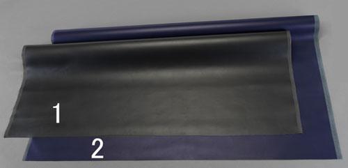 エスコ(ESCO) 1.42x2m/1.4mm 人工皮革(コードレ・黒) EA911AR-1