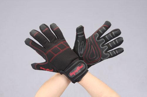 エスコ(ESCO) [M] 手袋(防寒-32℃/PVC・スパンデックス/黒) EA915GF-27