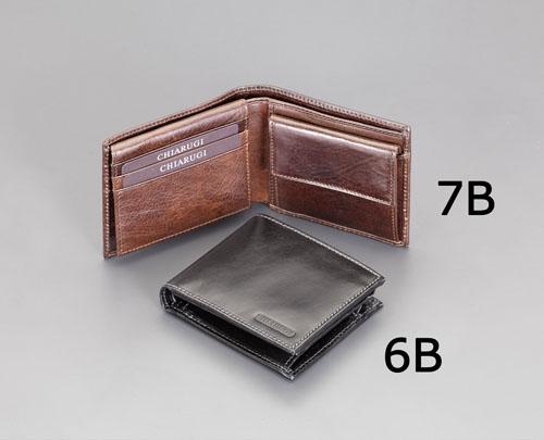 エスコ(ESCO) 107x92mm 財布(本革製/ブラック) EA927TP-6B