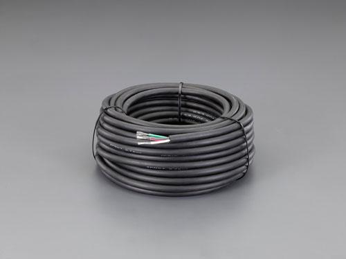 エスコ(ESCO) 2.0mm2x50m/4芯 [2種EPゴム]キャブタイヤケーブル EA940AZ-25