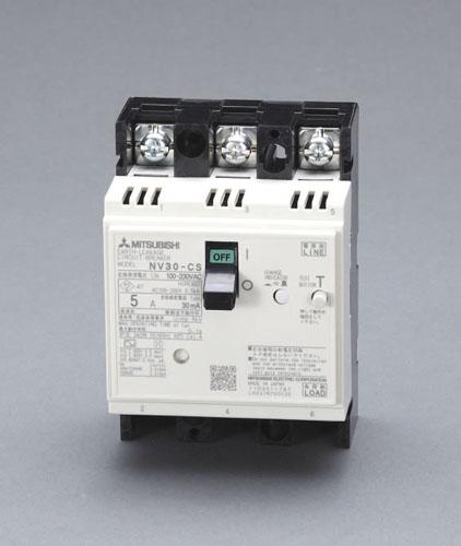 エスコ(ESCO) AC100-230V/20A/3極 漏電遮断器(フレーム30) EA940MN-4