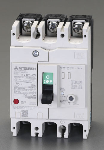エスコ(ESCO) AC100-440V/100A/3極 漏電遮断器(フレーム100) EA940MN-43