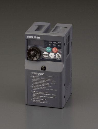 エスコ(ESCO) 200V/0.75KW インバーター(3相モーター制御用) EA940MX-207