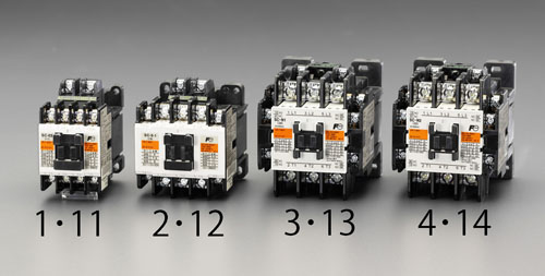 エスコ(ESCO) 200V/200V・7.5 KW 電磁接触器(標準形) EA940NB-14