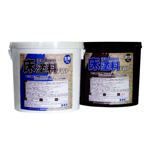 エスコ(ESCO) 10kg 床塗料(濡レ床用/グレー) EA942DP-42