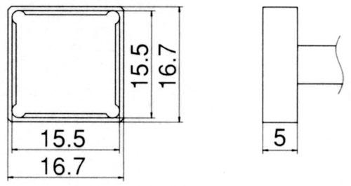エスコ(ESCO) 15.5x15.5mm 交換用こて先(クワッド型) EA304AG-38