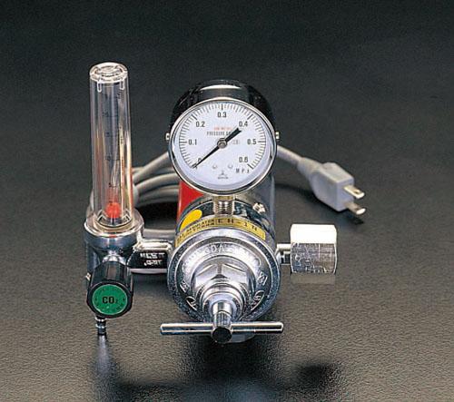 エスコ(ESCO) 炭酸ガス調整器(溶接ヒーター付) EA316EB