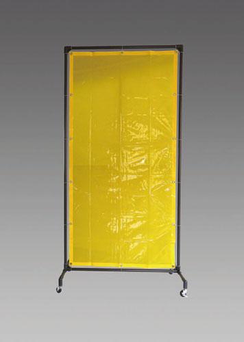 エスコ(ESCO) 1000x2150mm 溶接作業フェンスセット(黄色) EA334BE-20Y