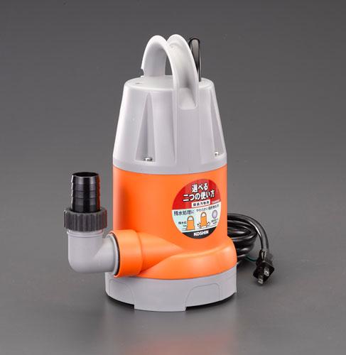 エスコ(ESCO) AC100V(50Hz)/32mm 水中ポンプ(汚水用) EA345EM-50