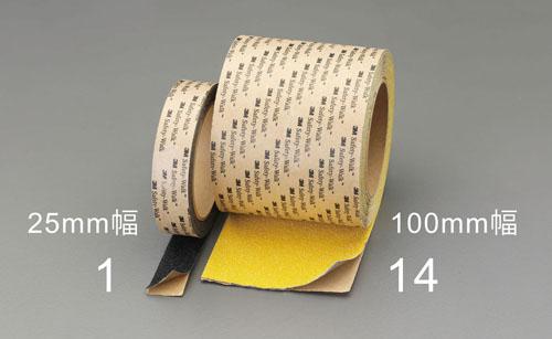 エスコ(ESCO) 100mmx18m 滑り止めテープ(屋外・凸凹面用/黄) EA944DL-15