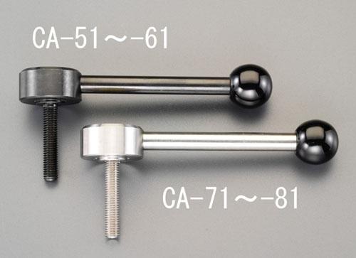 エスコ(ESCO) M8x50mm [ステンレス製]雄ねじフラットテンションレバー EA948CA-73