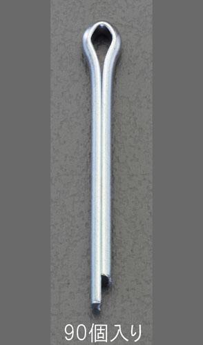 高価値 エスコ便利カタログNo.49:1436P掲載 おトク エスコ ESCO 4.0x35mm EA949WP-435W 割りピン 三価ホワイトメッキ 90個