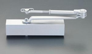 エスコ(ESCO) 120kg以下 ドアクローザー(標準型/シルバー) EA951LC-9A