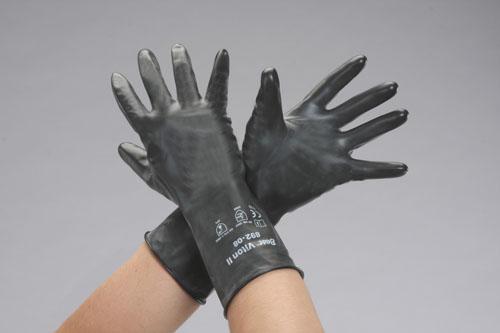 エスコ(ESCO) [XL/285mm] 手袋・耐塩素系(バイトンゴム製) EA354BV-33