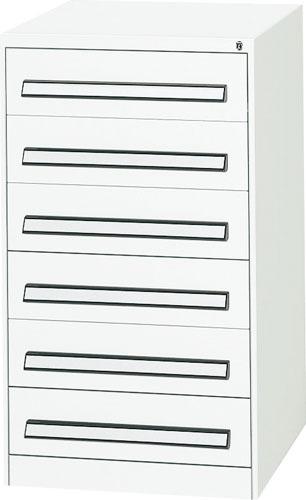 エスコ(ESCO) 580x620x1000mm/6段 ツールキャビネット(軽量用) EA955AD-4A