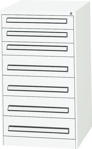 エスコ(ESCO) 580x620x1000mm/7段 ツールキャビネット(軽量用) EA955AD-5A