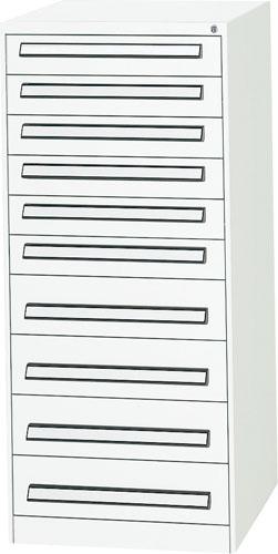 エスコ(ESCO) 580x620x1300mm/10段 ツールキャビネット(軽量用) EA955AD-8A
