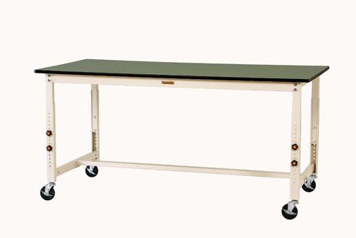 エスコ(ESCO) 1800x600x750-1000mm ワークテーブル(キャスター付) EA956TR-30