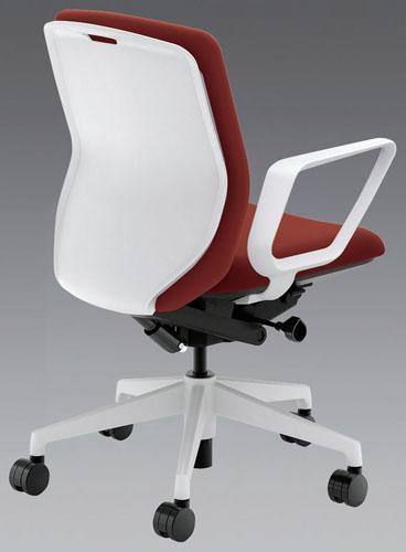 エスコ(ESCO) ビジネスチェアー(ワインレッド) EA956XA-92