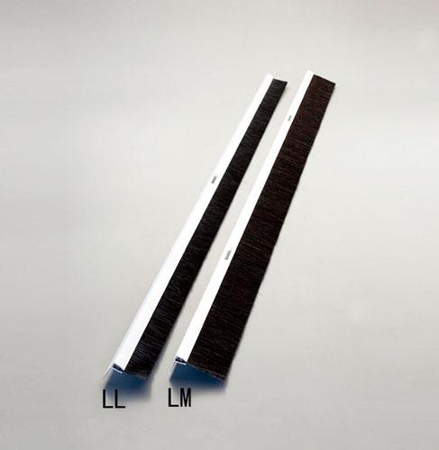 エスコ(ESCO) 50mmx1.0m シールブラシ(PP/黒) EA979LL-100B