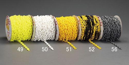 エスコ(ESCO) 6.0mmx50m プラスチックチェーン(蛍光黄) EA980A-49