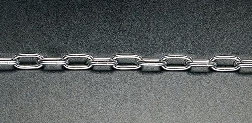 エスコ(ESCO) 6.0mmx10m リンクチェーン(ステンレス製) EA980SA-610