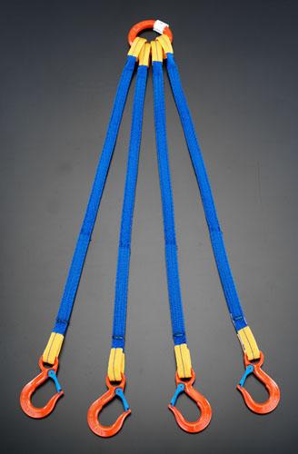 エスコ(ESCO) 1.86tonx2.0m 金具付スリング(4本懸け) EA981FE-23A