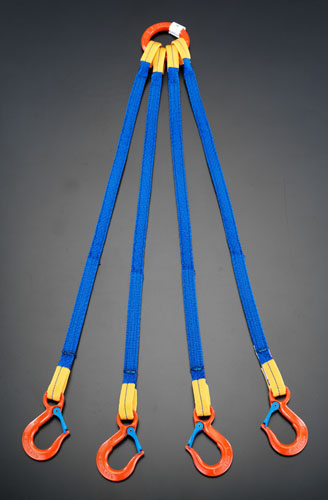 エスコ(ESCO) 4.65tonx2.0m 金具付スリング(4本懸け) EA981FE-53A