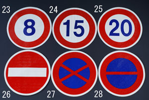 エスコ(ESCO) φ600mm 路面道路標識(駐停車禁止) EA983BB-27
