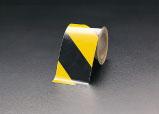 エスコ(ESCO) 200mmx10m トラテープ(粗面用・反射 黒/黄) EA983FD-200
