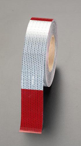 エスコ(ESCO) 50mmx45m 警告反射テープ(赤/白) EA983G-40