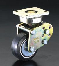 エスコ(ESCO) 125mm キャスター(自在金具・スプリング付) EA986KZ-125