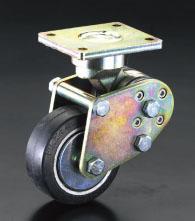 100 %品質保証 エスコ(ESCO) キャスター(固定金具・スプリング付) 125mm EA986KZ-2:工具屋のプロ 店-DIY・工具