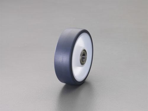 エスコ(ESCO) 200x50mm 車輪(ポリウレタン+ナイロン・Ballベアリング) EA986ME-8