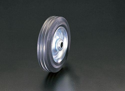 エスコ(ESCO) 300x60mm 車輪(ラバータイヤ・スチールリム・ローラーベアリング EA986MG-300