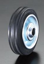 エスコ(ESCO) 280x70mm 車輪(ラバータイヤ・スチールリム・ローラーベアリング EA986MG-8