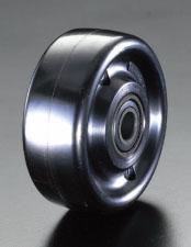 エスコ(ESCO) 125x40mm 車輪(耐熱フェノール樹脂・ボールベアリング) EA986MK-5