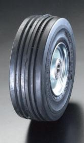 エスコ(ESCO) 250x85mm 車輪(エラスティックタイヤ・スチールリム・ベアリング EA986MM-250