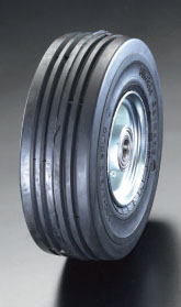 エスコ(ESCO) 400x105mm 車輪(エラスティックタイヤ・スチールリム・ベアリング EA986MM-400